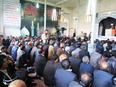 گزارش تصویری اولین نماز جمعه رومشگان به امامت حجت الاسلام جمیاری