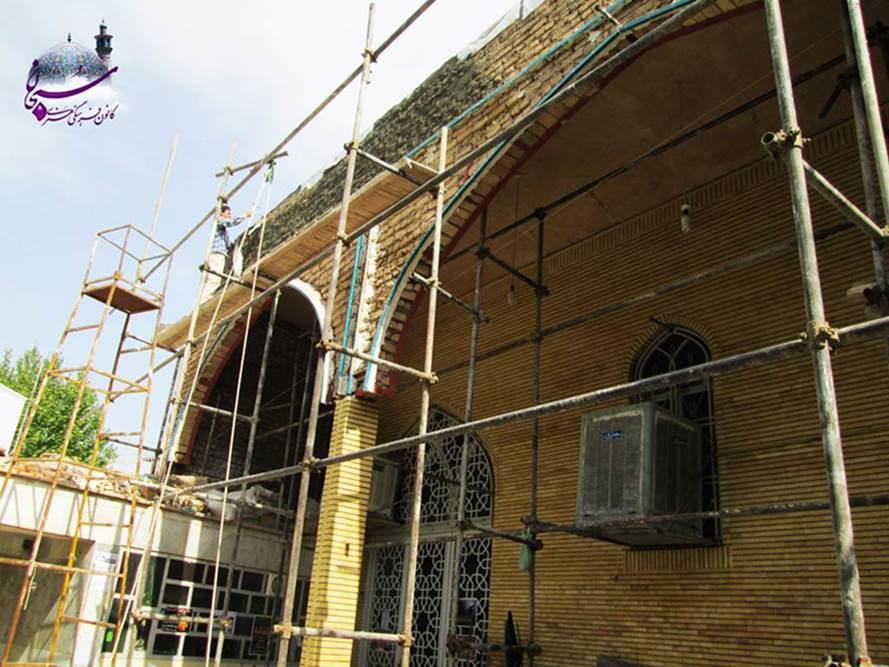 گزارش تصویری از اتمام کاشیکاری مسجد جامع کوهدشت