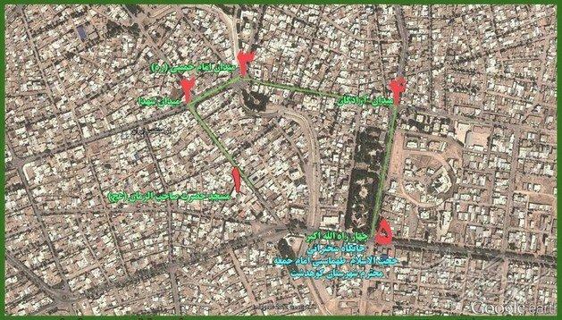 مسیر ها ی راهپیمایی روز قدس 1393 در کوهدشت و رومشکان
