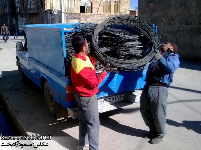 گزارش تصویری از تعویض سیم های برق کوهدشت بهمن ماه ۹۳