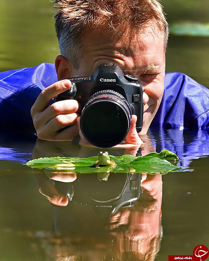 سختی های  کار  یک عکاس حرفه ای+ عکس