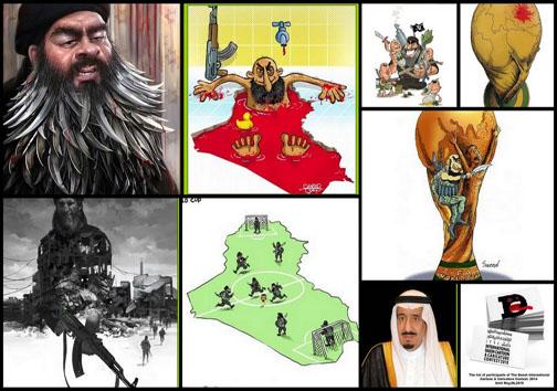 ساعت19 //////////// تاپ //////////////// برترین کاریکاتور ضد تروریستی ورزشی جهان رونمایی شد