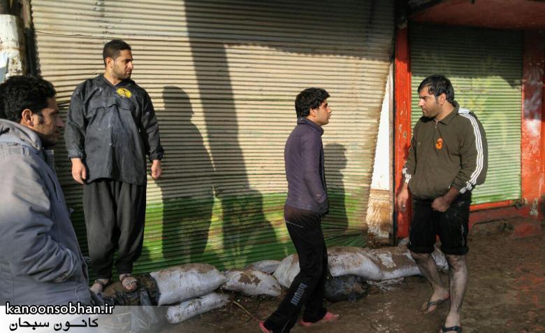 تصاویر مغزه های میدان امام(ره) کوهدشت صبح روز بعد سیل (1)