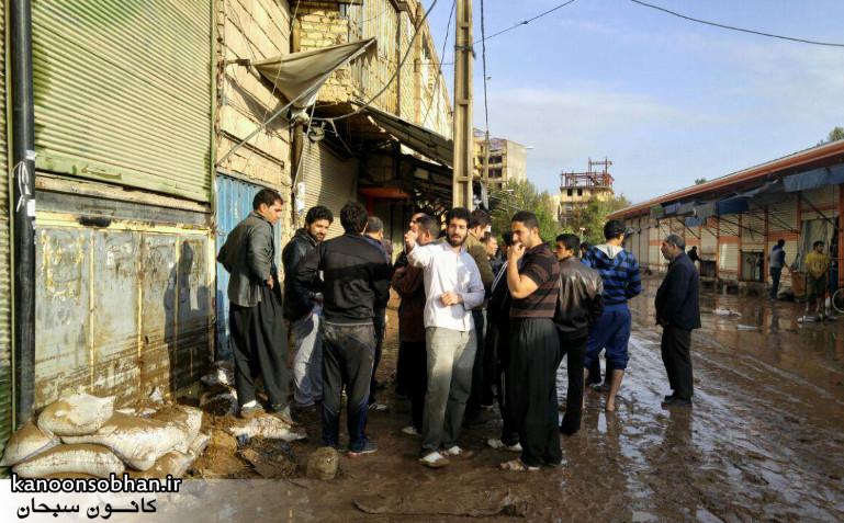 تصاویر مغزه های میدان امام(ره) کوهدشت صبح روز بعد سیل (3)