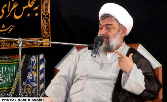 سخنراني اديب يزدي در مسجد جامع کوهدشت
