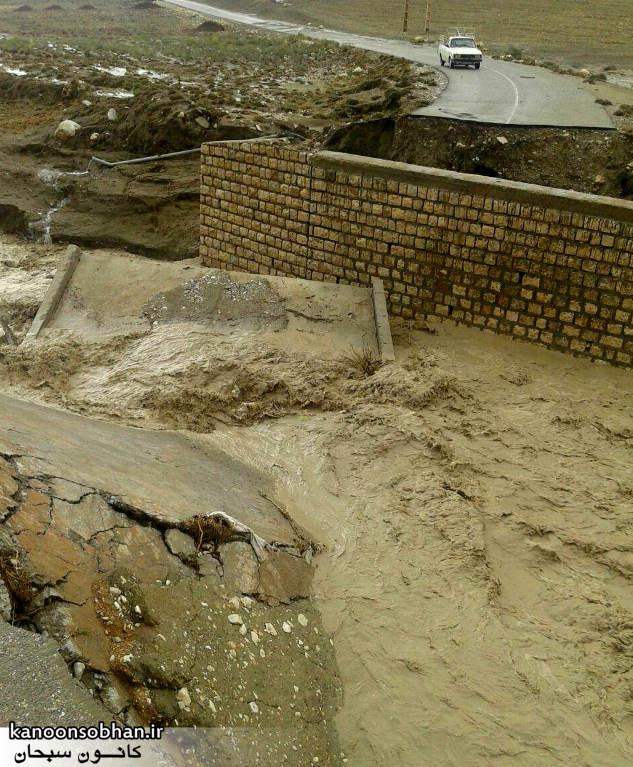 باز شدن راه ارتباطی 50 روستای کوهدشت با احداث یک پل موقت +عکس (2)