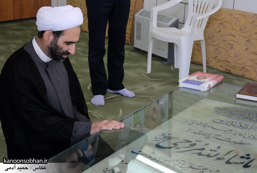 تصاویر حضور آیت الله احمد مبلغی در مرقد شریف پدر و قبور شهدا (3)