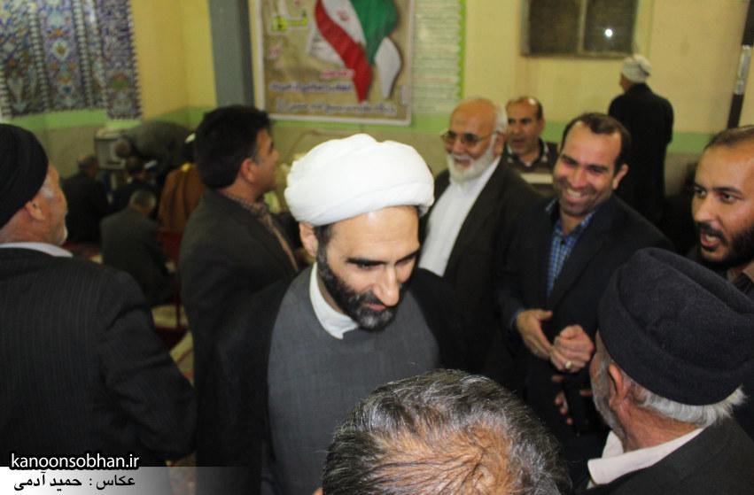 تصاویر حضور آیت الله احمد مبلغی در مسجد امام حسین (ع) کوهدشت (1)