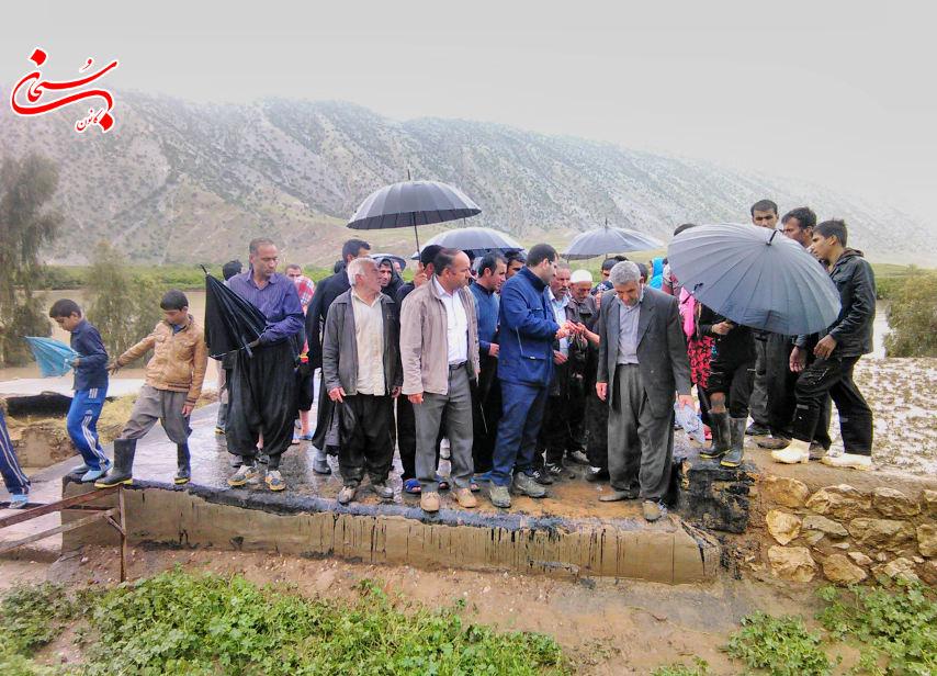 تصاویر حضورفرماندار کوهدشت و مسئولین در مناطق سیل زده ی بخش کوهنانی