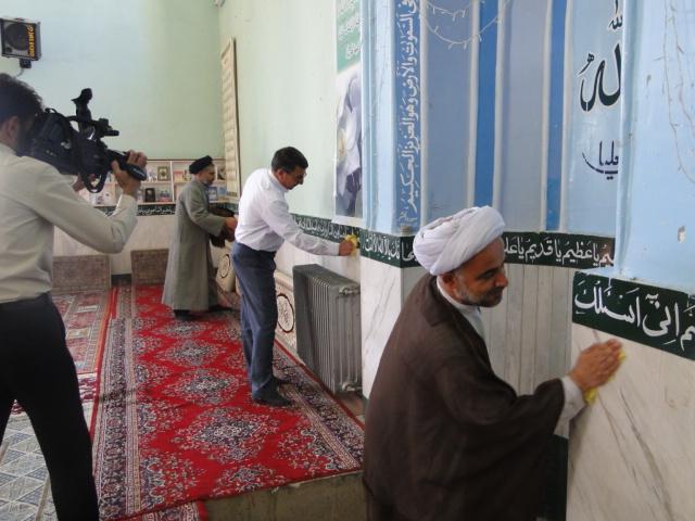 تصاویر آئین نمادین غباروبی مساجد کوهدشت (3)