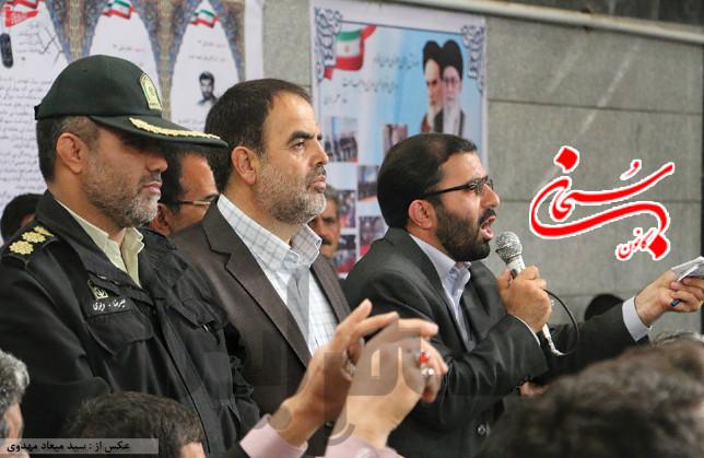 عباس گودرزی عصر امروز در جمع شهروندان بروجردی (1)