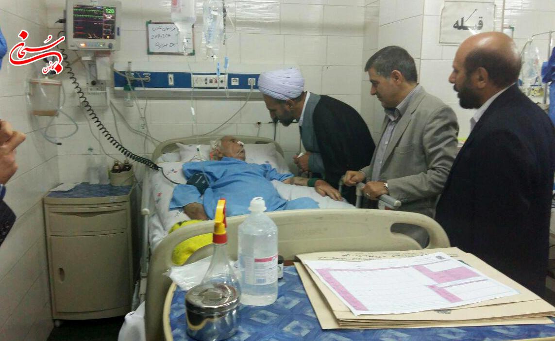 عيادت آيت الله احمد مبلغي و امام جمعه كوهدشت ازحاج قربانعلي قبادي (3)
