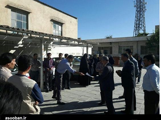 تجمع اعتراضی کارکنان شرکتی مخابرات لرستان