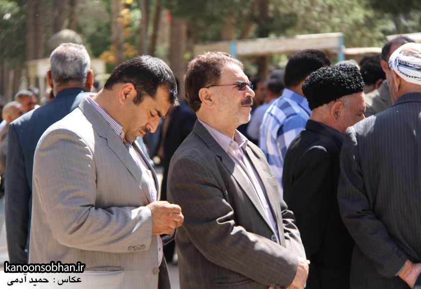 تصاویر مراسم خاکسپاری «حاج قربانعلی قبادی» خادم القرآن کوهدشتی (11)