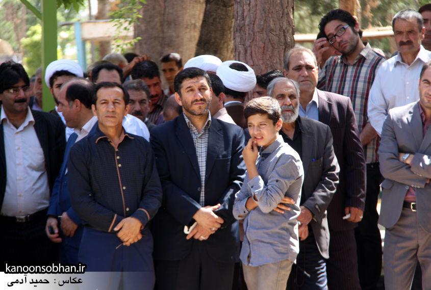 تصاویر مراسم خاکسپاری «حاج قربانعلی قبادی» خادم القرآن کوهدشتی (12)