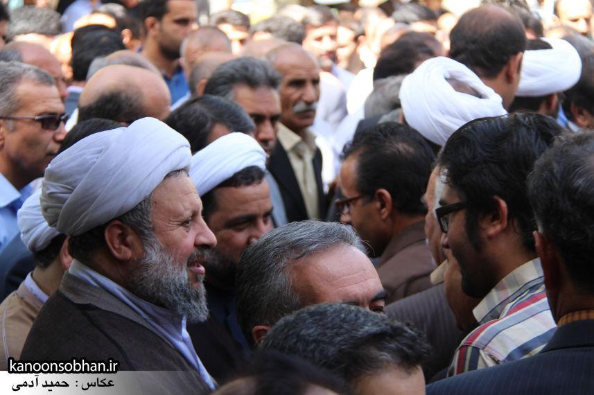 تصاویر مراسم خاکسپاری «حاج قربانعلی قبادی» خادم القرآن کوهدشتی (14)