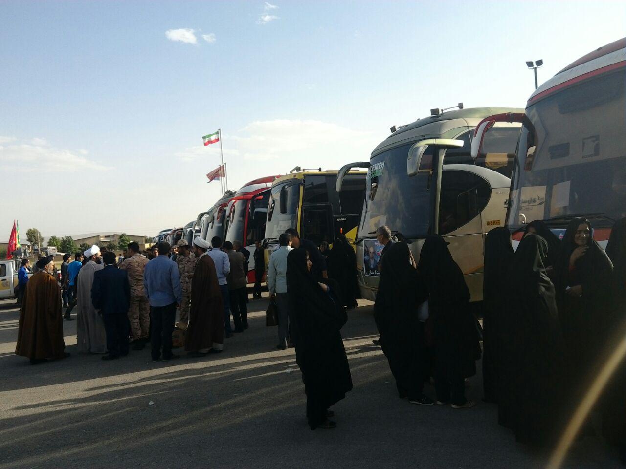 گزارش تصویری از اعزام 620 نفر از از مردم کوهدشت به مرقد مطهر امام (ره)