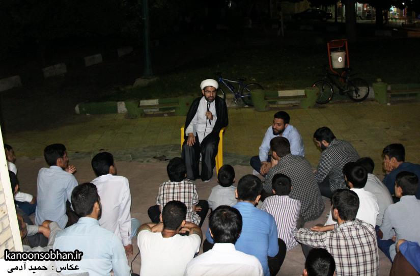تصاویر مراسم هفتگی هیئت انصار الحسین(ع) در جوار شهدای گمانم کوهدشت (3)
