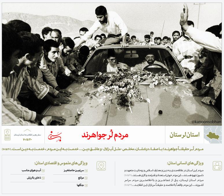 نظر رهبر معظم انقلاب در مورد استان لرستان+پوستر
