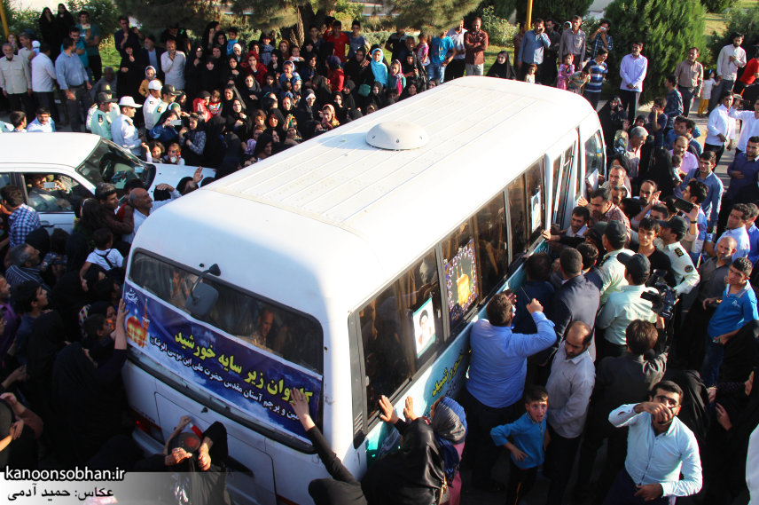 تصاویر استقبال از کاروان خدام و پرچم حرم امام رضا(ع) در کوهدشت (10)