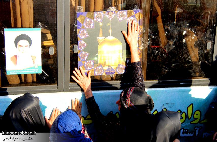 تصاویر استقبال از کاروان خدام و پرچم حرم امام رضا(ع) در کوهدشت (12)