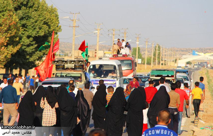 تصاویر استقبال از کاروان خدام و پرچم حرم امام رضا(ع) در کوهدشت (2)