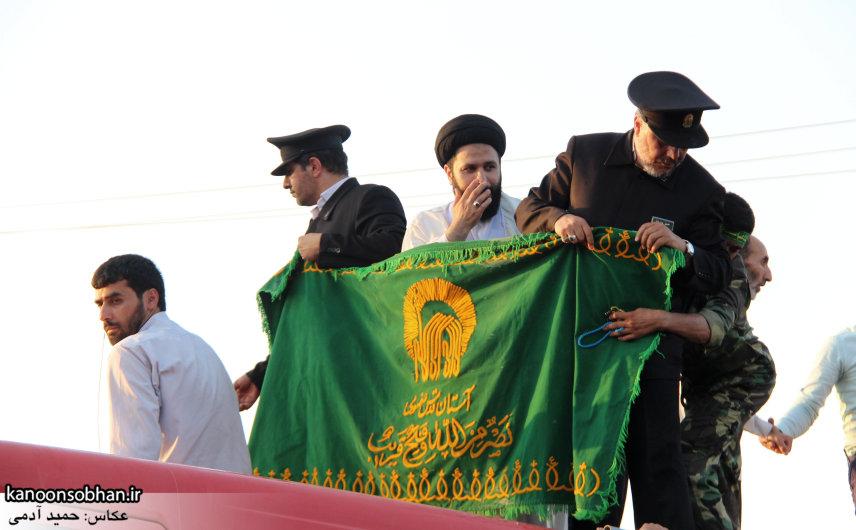 تصاویر استقبال از کاروان خدام و پرچم حرم امام رضا(ع) در کوهدشت (46)