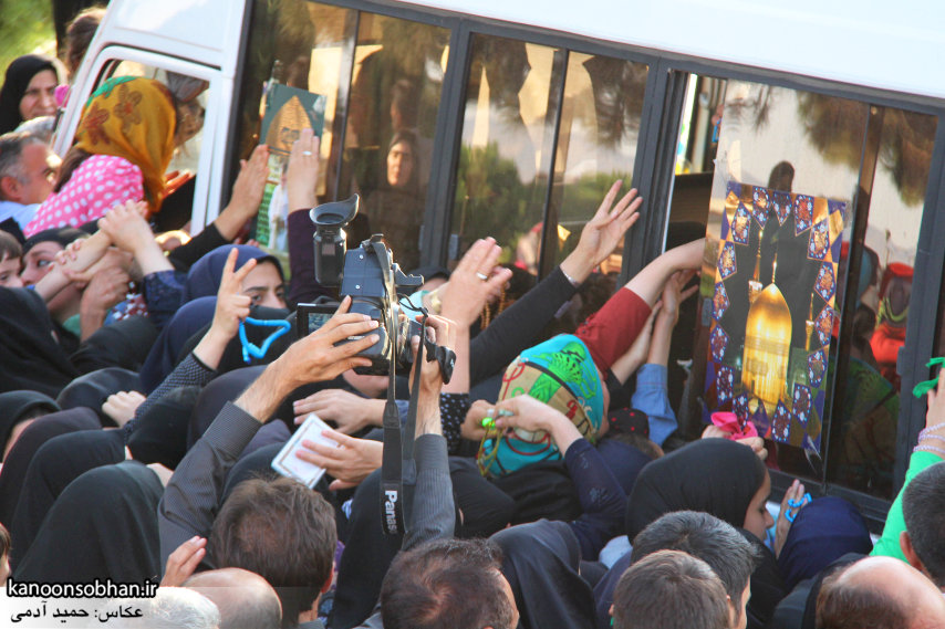 تصاویر استقبال از کاروان خدام و پرچم حرم امام رضا(ع) در کوهدشت (7)