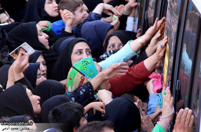 تصاویر استقبال از کاروان خدام و پرچم حرم امام رضا(ع) در کوهدشت (8)