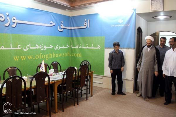 تصاویر بازدید آیت الله احمد مبلغی از سامانه خبری حوزه (10)