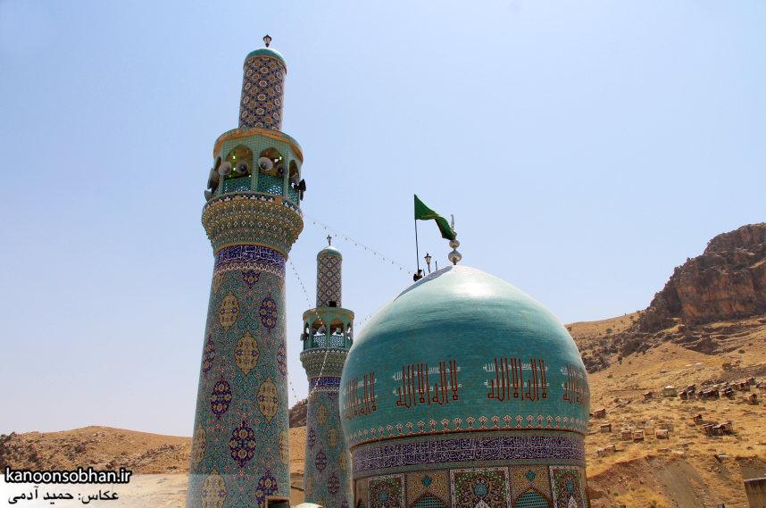 تصاویر رونمایی از پرچم گنبد امامزاده محمد(ع) کوهدشت (3)