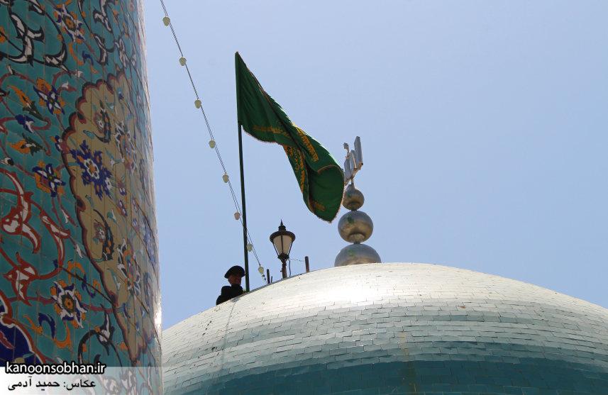 تصاویر رونمایی از پرچم گنبد امامزاده محمد(ع) کوهدشت (4)
