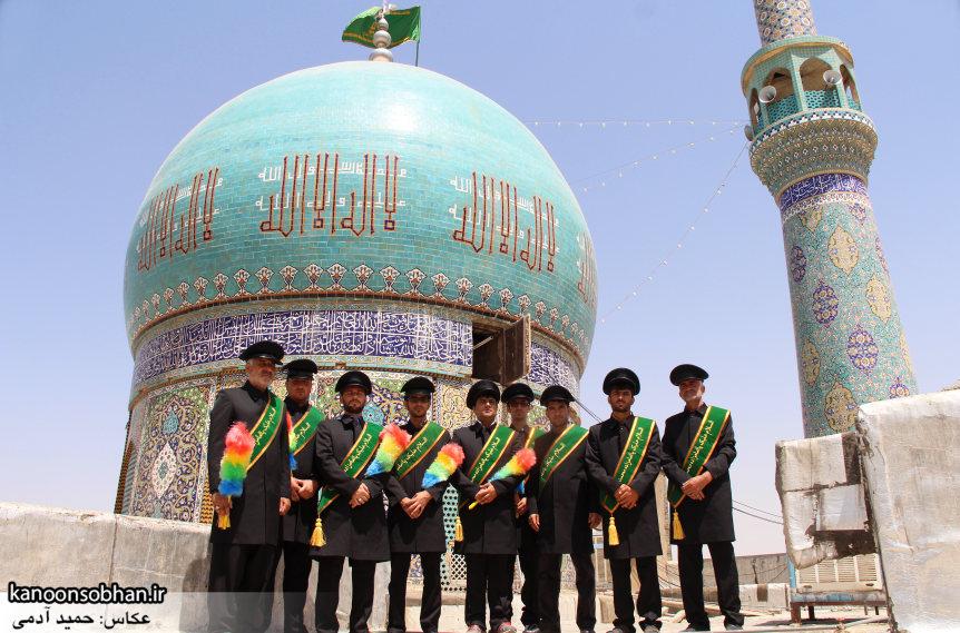 تصاویر رونمایی از پرچم گنبد امامزاده محمد(ع) کوهدشت (5)