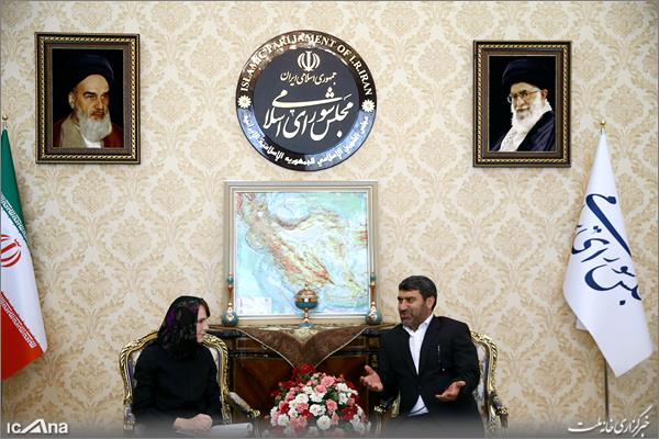 دیدار الهیار ملکشاهی با رئیس دفتر کمیساریای عالی حقوق بشر سازمان ملل متحد